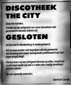 City gesloten