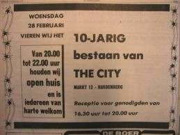 advertentie 10 jaar 'the city'