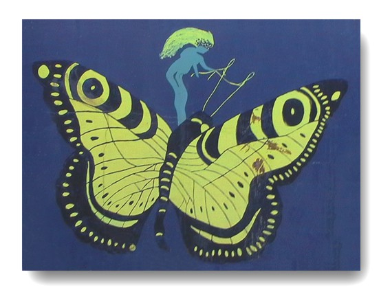 Origineel gevelbord Papillon