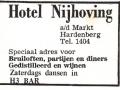 Advertentie Hotel Nijhoving