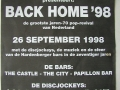 Advertentie Back Home '98