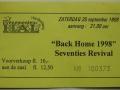 Toegangsbewijs Back Home '98
