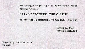 Uitnodiging opening 'The Castle'