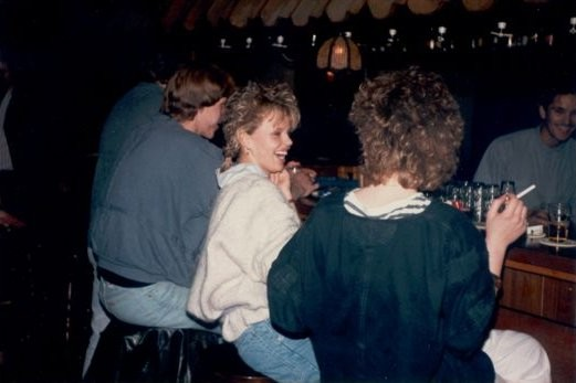 Drinking at the bar