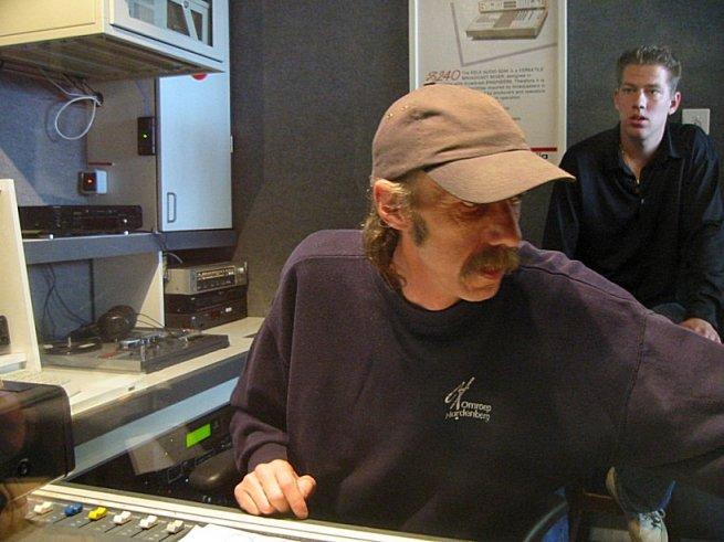 Techniek tijdens de radiouitzending: Ernst Fidom