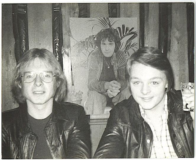Jan Pracht en Wilfried Gouwe aan de lange bar