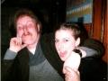 Bernard Juurlink en Tineke Koster, lange bar 1979