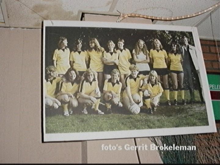 Foto van het damesvoetbalelftal